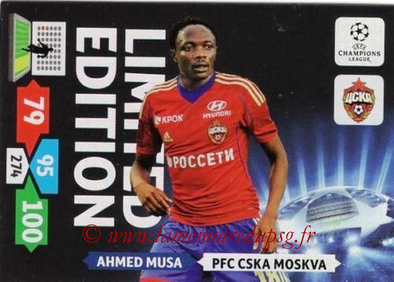 2013-14 - Adrenalyn XL champions League N° LE27 - Ahmed MUSA (CSKA Moscou) (Limited Edition)