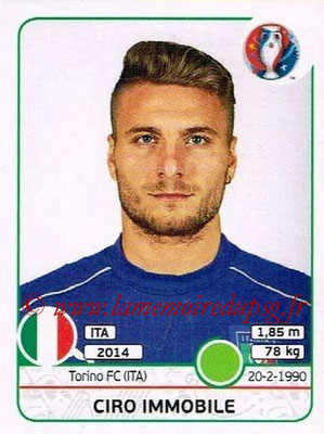 Panini Euro 2016 Stickers - N° 514 - Ciro IMMOBILE (Italie)