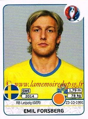 Panini Euro 2016 Stickers - N° 559 - Emil FORSFERG (Suède)