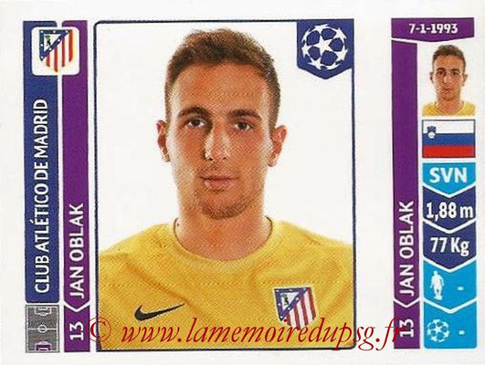 2014-15 - Panini Champions League N° 048 - Jan OBLAK (Atletico Madrid)