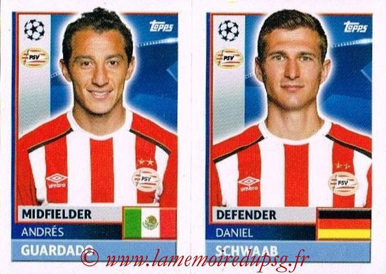 2016-17 - Topps UEFA Champions League Stickers - N° PSV 10-11 - Daniel SCWAAB + Andrès GUARDADO (PSV Eindhoven)