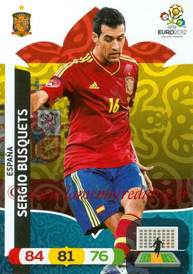Panini Euro 2012 Cards Adrenalyn XL - N° 067 - Sergio BUSQUETS (Espagne)