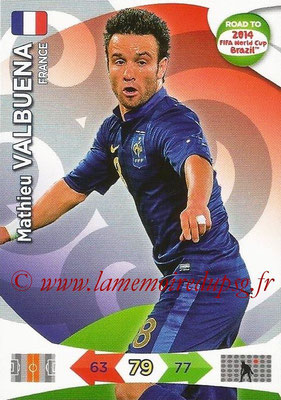 2014 - Panini Road to FIFA World Cup Brazil Adrenalyn XL - N° 097 - Mathieu VALBUENA (France)