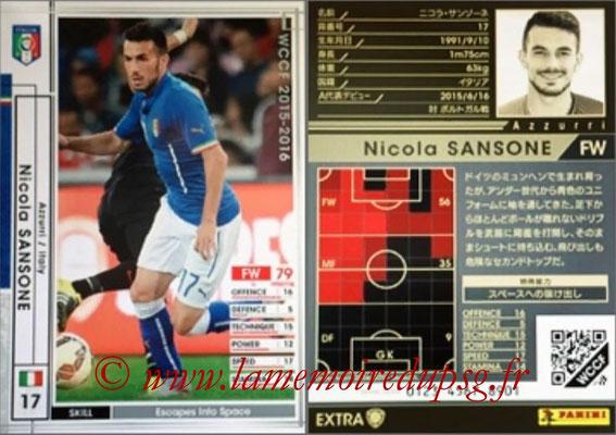 2015-16 - Panini WCCF - N° EXT24 - Nicola SANSONE (Italie) (Extra)