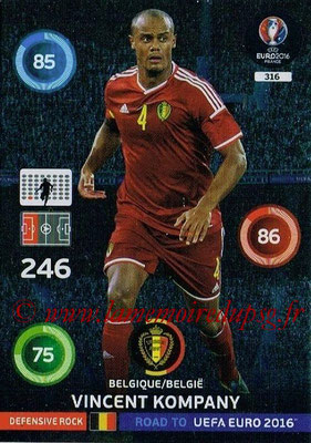 Panini Road to Euro 2016 Cards - N° 316 - Vincent KOMPANY (Belgique) (Defensive Rock)