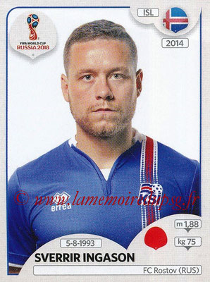 2018 - Panini FIFA World Cup Russia Stickers - N° 299 - Sverrir INGASON (Islande)