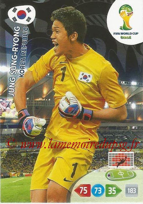 2014 - Panini FIFA World Cup Brazil Adrenalyn XL - N° 236 - Jung SUNG-RYONG (Corée)