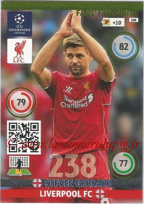 2014-15 - Adrenalyn XL champions League N° 268 - Steven GERRARD (Liverpool FC) ( Fans' Favourite)