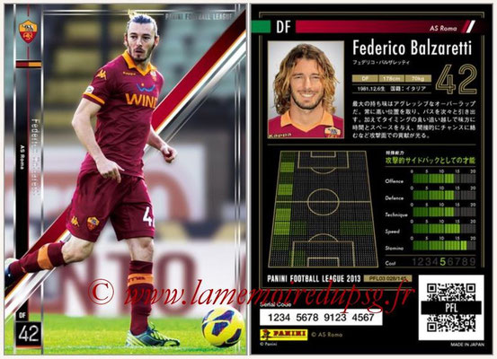 Panini Football League 2013 - PFL03 - N° 028 - Federico Balzaretti  (AS Roma)