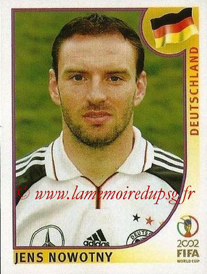2002 - Panini FIFA World Cup Stickers - N° 317 - Jens NOWOTNY (Allemagne)