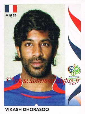 2006 - Panini FIFA World Cup Germany Stickers - N° 462 - Vikash DHORASOO (France)