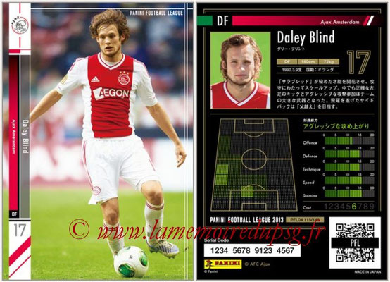 Panini Football League 2013 - PFL04 - N° 115 - Daley BLIND (Ajax Amsterdam)
