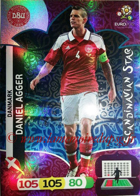 Panini Euro 2012 Cards Adrenalyn XL - N° 307 - Daniel AGGER (Danemark) (Scandinavian Star) (Nordic Edition)