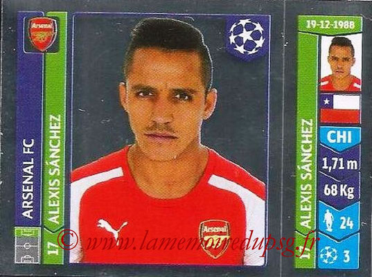 2014-15 - Panini Champions League N° 261 - Alexis SANCHEZ (Arsenal FC)