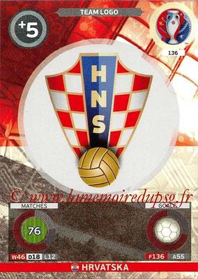 Panini Euro 2016 Cards - N° 136 - Logo Croatie (Team Logo)