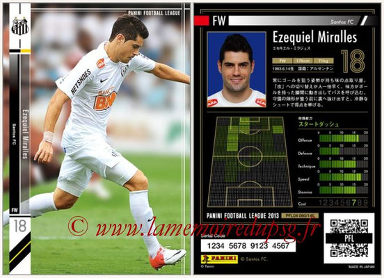 Panini Football League 2013 - PFL04 - N° 080 - Ezequiel MIRALLES (Santos FC)