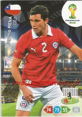 2014 - Panini FIFA World Cup Brazil Adrenalyn XL - N° 070 - Eugenio MENA (Chili)