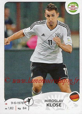 2014 - Panini Road to FIFA World Cup Brazil Stickers - N° 054 - Miroslav KLOSE (Allemagne)