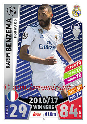 2017-18 - Topps UEFA Champions League Match Attax - N° 015 - Karim BENZEMA (Real Madrid CF)