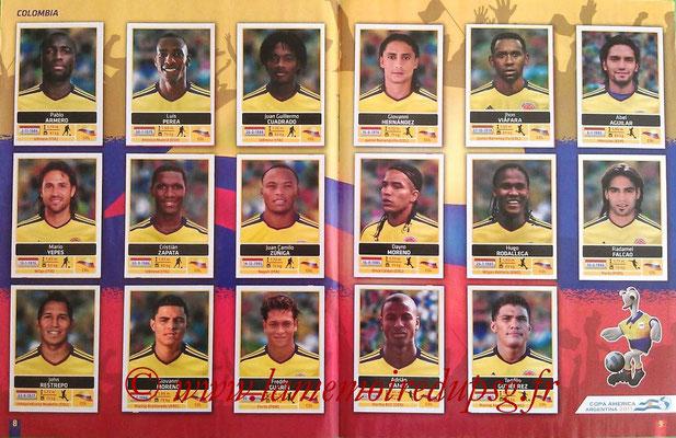 Panini Copa América Argentina 2011 - Pages 08 et 09 - Colombie