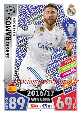 2017-18 - Topps UEFA Champions League Match Attax - N° 006 - Sergio RAMOS (Real Madrid CF) (Defensive Dynamo)