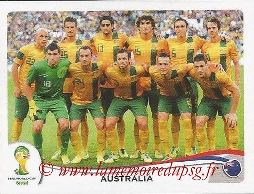 2014 - Panini FIFA World Cup Brazil Stickers - N° 166 - Equipe Australie