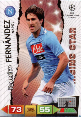 2011-12 - Panini Champions League Cards - N° 175 - Federico FERNANDEZ (SSC Naples) (Rising Star)