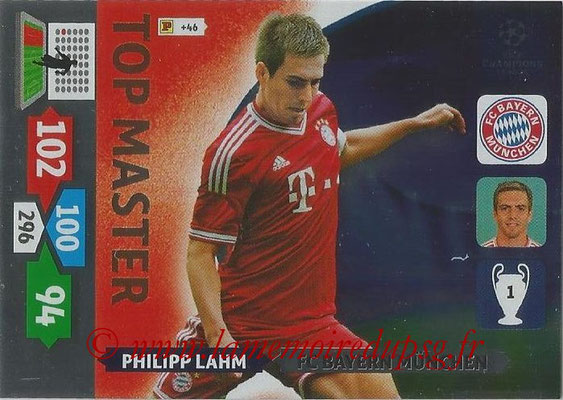 2013-14 - Adrenalyn XL champions League N° 354 - Philipp LAHM (FC Bayern Munich) (Top Master)