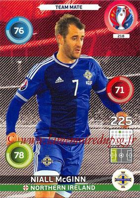 Panini Euro 2016 Cards - N° 218 - Niall McGINN (Irlande du Nord)