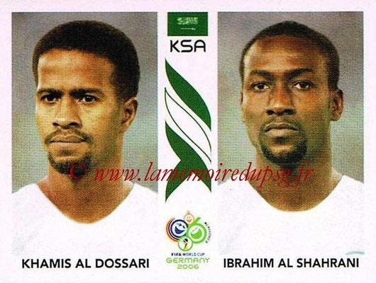 2006 - Panini FIFA World Cup Germany Stickers - N° 592 - Khamis AL DOSSARI + Ibrahim AL SHAHRANI (Arabie Saoudite)