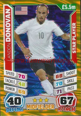 Topps Match Attax England 2014 - N° 237 - Landon DONOVAN (Etats-Unis) (Star Player)