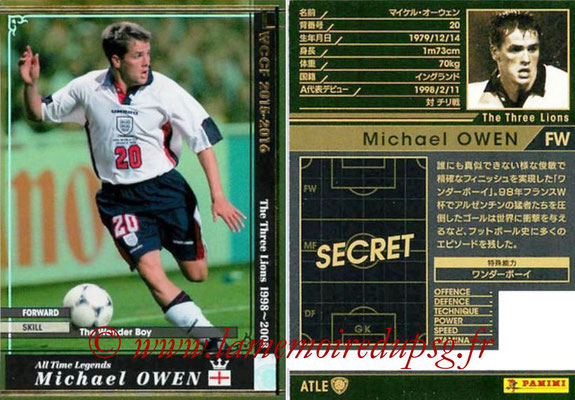 2015-16 - Panini WCCF - N° ATLE11 - Michael OWEN (Angleterre) (All Time Legends)