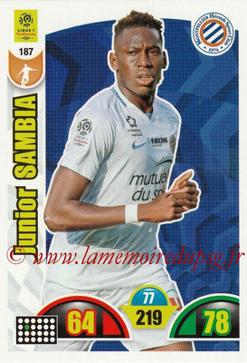 2018-19 - Panini Adrenalyn XL Ligue 1 - N° 187 - Junior SAMBIA (Montpellier)