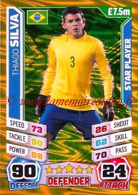 Topps Match Attax England 2014 - N° 036 - Thiago SILVA (Bresil) (Star player)