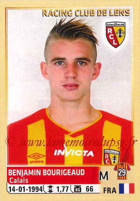 2014-15 - Panini Ligue 1 Stickers - N° 134 - Benjamin BOURIGEAUD (RC Lens)