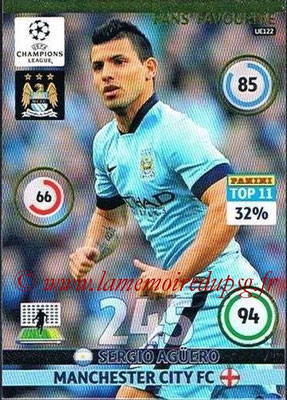 2014-15 - Adrenalyn XL champions League Update edition N° UE122 - Sergio AGUERO (Manchester City) (Fans' Favorite)