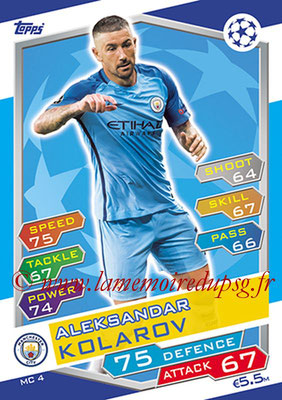 2016-17 - Topps UEFA Champions League Match Attax - N° MC4 - Aleksandar KOLAROV (Manchester City FC)