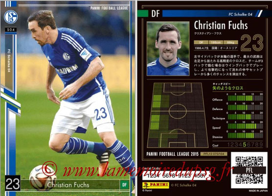 Panini Football League 2015 - PFL12 - N° 075 - Christian FUCHS (FC Schalke 04)