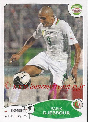 2014 - Panini Road to FIFA World Cup Brazil Stickers - N° 382 - Rafik DJEBBOUR (Algérie)