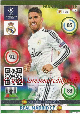 2014-15 - Adrenalyn XL champions League N° 274 - Sergio RAMOS (Real Madrid CF) ( Fans' Favourite)