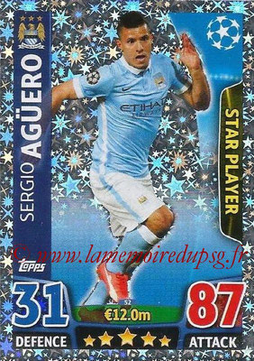 2015-16 - Topps UEFA Champions League Match Attax - N° 052 - Sergio AGÜERO (Manchester City FC) (Star Player)