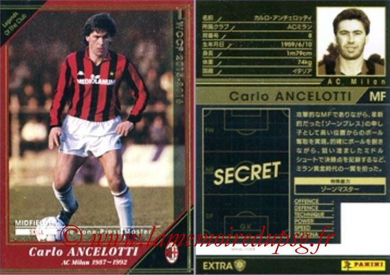 2015-16 - Panini WCCF - N° LEOC3 - Carlos ANCELOTTI (Milan AC) (Legend Of the Club) (Extra)