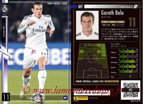 Panini Football League 2015 - PFL13 - N° 043 - Gareth BALE (Real Madrid)
