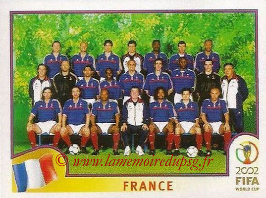 2002 - Panini FIFA World Cup Stickers - N° 025 - Equipe France