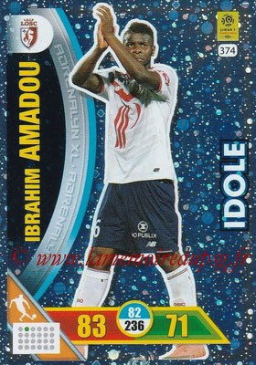 2017-18 - Panini Adrenalyn XL Ligue 1 - N° 374 - Ibrahim AMADOU (Lille) (Idole)