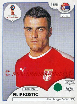 2018 - Panini FIFA World Cup Russia Stickers - N° 429 - Filip KOSTIC (Serbie)
