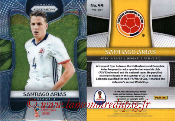 2018 - Panini Prizm FIFA World Cup Russia - N° 044 - Santiago ARIAS (Colombie)