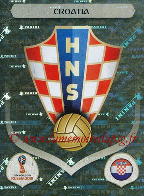 2018 - Panini FIFA World Cup Russia Stickers - N° 312 - Ecusson Croatie