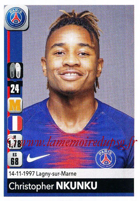 2018-19 - Panini Ligue 1 Stickers - N° 364 - Christopher NKUNKU (Paris Saint-Germain)