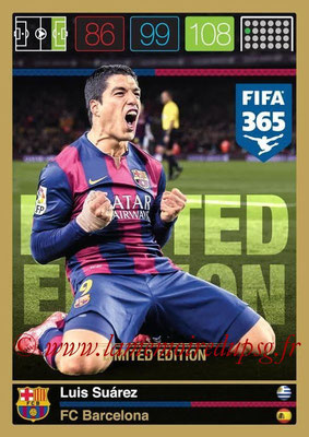 2015-16 - Panini Adrenalyn XL FIFA 365 - N° LE-LS - Luis SUAREZ (FC Barcelone) (Limited Edition)